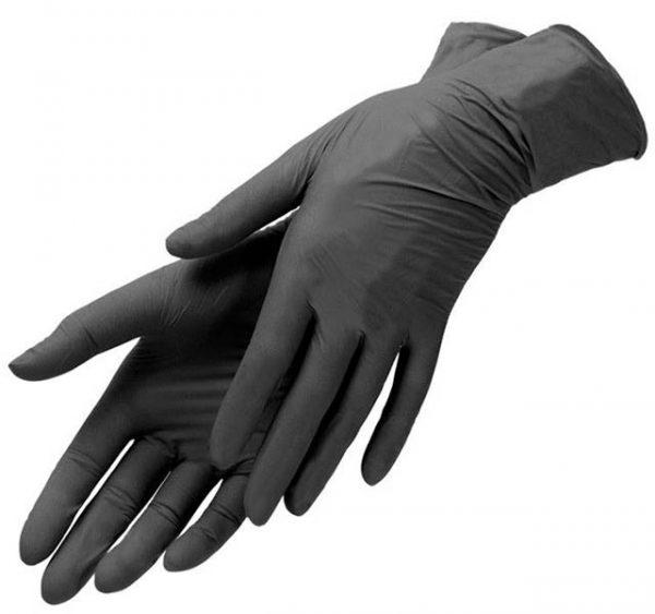 Nitril rokavice L črne