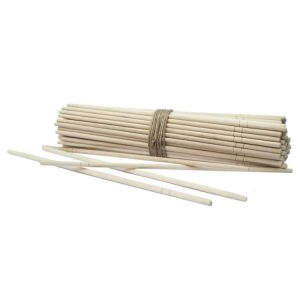 Lesene palčke okrogle za azijsko hrano, zavite posamezno (100 kos/pak)