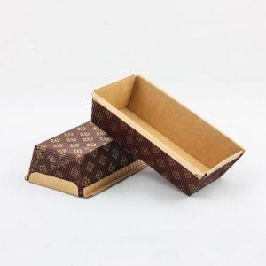 Pravokotna papirnata posodica 150 x 65 x 50 mm