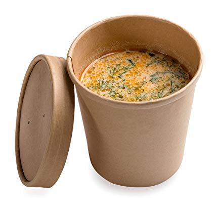 Posodica za juho s pokrovom ECO SOUP 440 ml (250 kos/pak)