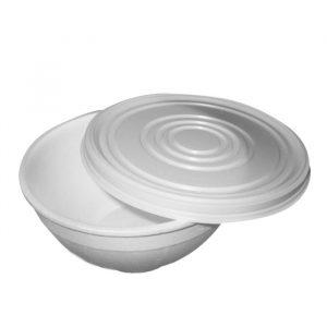 Posodica za juho s pokrovom EPS 410 ml, 576 kos (komplet)