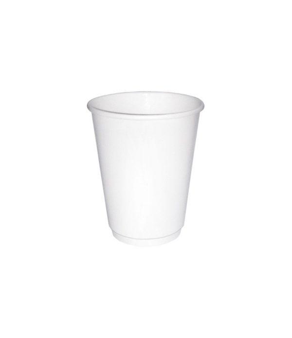 Papirnat kozarec 300 ml d=90 mm 2-slojni bel (20 kos/pak)