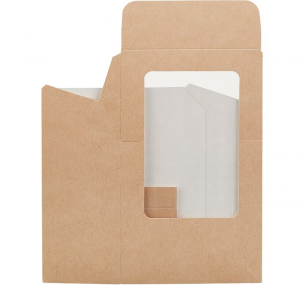 Wrap box z folijo 90x50x130 mm kraft (25 kos/pak)