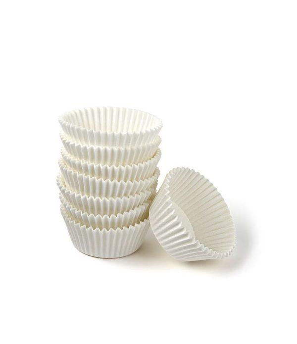 Papirnata posodica za muffine in mignone okrogla, bela d=25mm h=16mm (2000 kos/pak)
