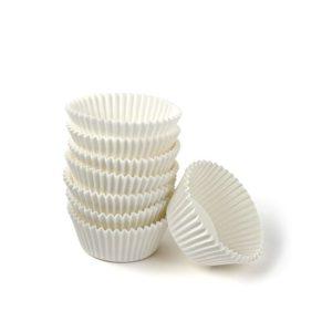 Papirnata posodica za muffine in mignone okrogla, bela d=30mm h=18mm