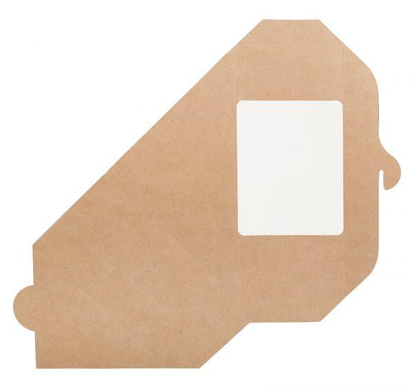 Sendvič embalaža s oknom ECO SANDWICH 130х130х70 mm kraft (50 kos/pak)