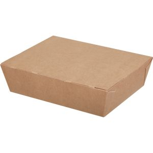 Papirnata Posodica ECO LUNCH BOX 1000ml 190x150x50mm, kraft (200 kos/pak)