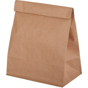 Papirnata vrečka 180 х 110 х 300 mm kraft (500 kos/pak)