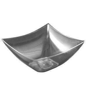 Posodica SQUARE PS 90 ml prozorna (25 kos/pak)