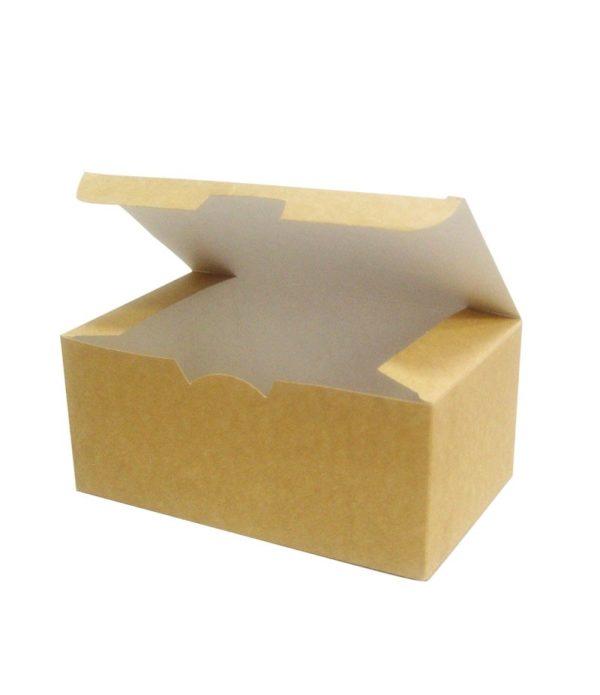 Papirnata embalaža Ecoline 150x91x70 mm kraft (25 kos/pak)