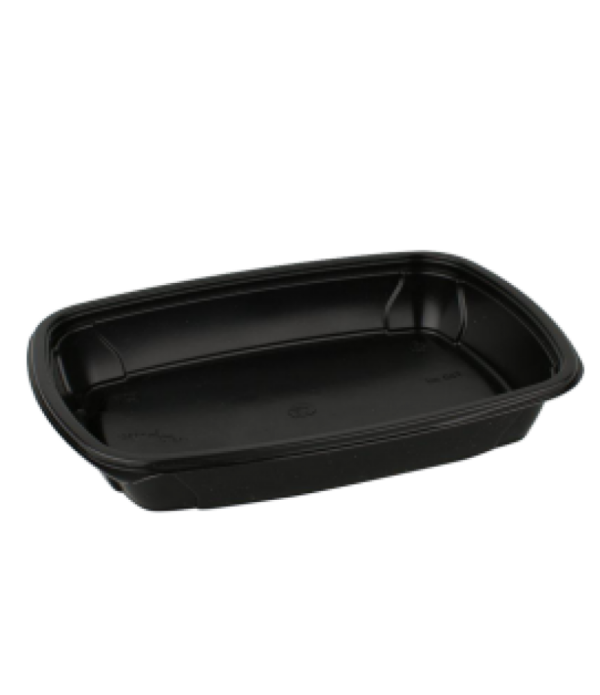 Posodica PP 750 ml 230x170x37 mm črna (100 kos/pak)