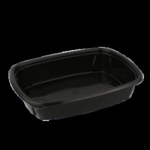 Posodica PP 1000 ml 230x170x50 mm črna (100 kos/pak)