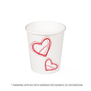 Papirnat kozarec 250 ml d=80 mm 1-slojni beli (50 kos/pak)
