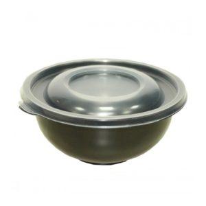 Posodica za juho PP 450 ml d=145 mm h=63 mm črna (480 kos/pak)