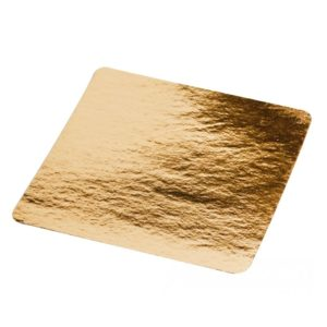 Kartonast podstavek 210x210mm zlat (50 kos/pak)