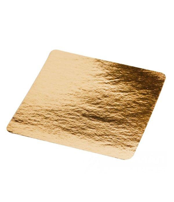 Podstavek za torto kartonasti 210×210 mm zlat (50 kos/pak)