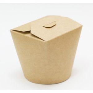 Papirnata posodica za azijsko hrano 700 ml kraft (50 kos/pak)