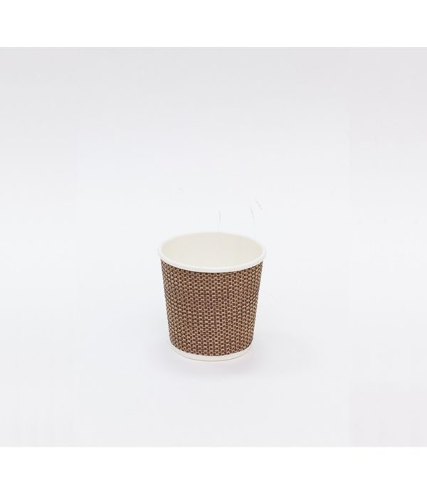 Papirnat kozarec 100 ml troslojen valovit d=62 mm kraft celica (25 kos/pak)