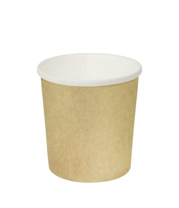 Papirnata posoda za juho 500 ml d=98 mm h=99 mm kraft (25 kos/pak)