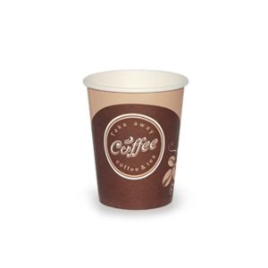 Papirnat kozarec 250 ml d=80 mm 1-slojni Coffee take away (50 kos/pak)