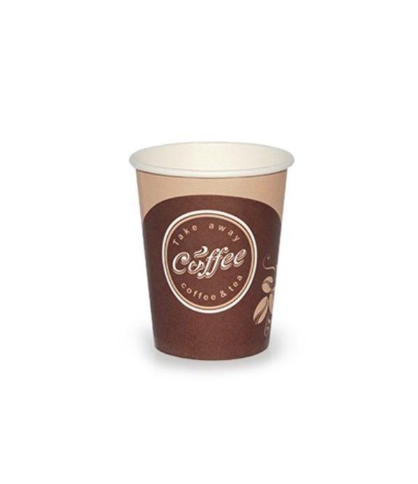 Papirnat kozarec 250 ml d=80 mm 1-slojni Coffee take away (50 kos/pak)