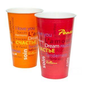 Papirnat kozarec 300 ml d=90 mm 1-slojni Fiesta za hladne napitke (50 kos/pak)