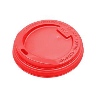Pokrov s stransko luknjo PS d=90 mm rdeč (100 kos/pak)