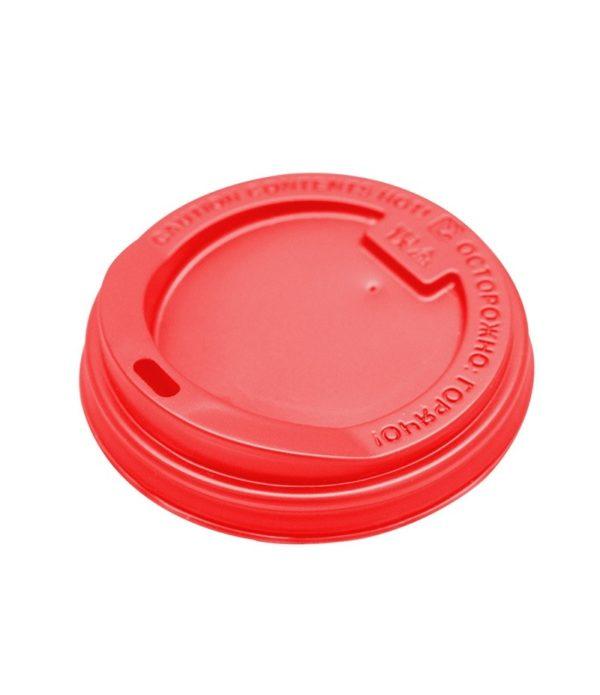 Pokrov s luknjo PS d=90 mm rdeč (100 kos/pak)
