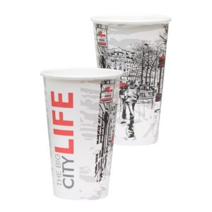 Papirnat kozarec za tople napitke 400 (518) ml BIG CITY LIFE (50 kos/pak)