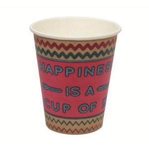 Papirnat kozarec za tople napitke 300 (364) ml HAPPY LIFE (50 kos/pak)
