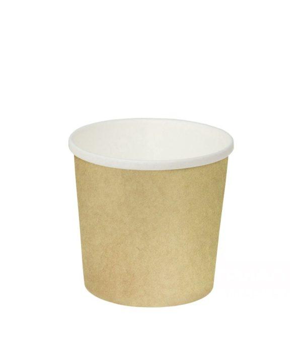 Papirnata posoda za juho 300 ml d=90 mm h=85 mm  kraft (50 kos/pak)