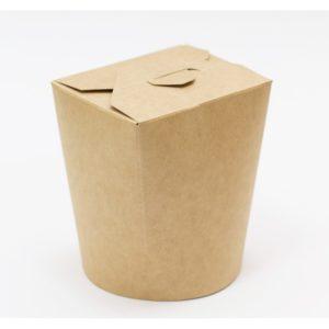 Papirnata posodica za azijsko hrano 500 ml kraft (30 kos/pak)