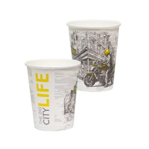 Papirnat kozarec 250 ml d=90 mm 1-slojni Big City Life (50 kos/pak)