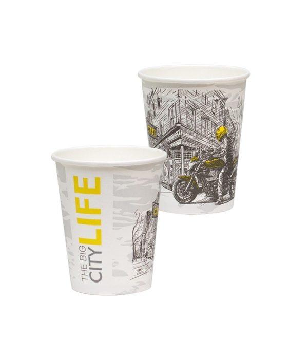 Papirnat kozarec za tople napitke 250 (273) ml BIG CITY LIFE (50 kos/pak)
