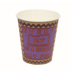 Papirnat kozarec Happy Life 250 ml za tople napitke, d=80 mm KRAFT