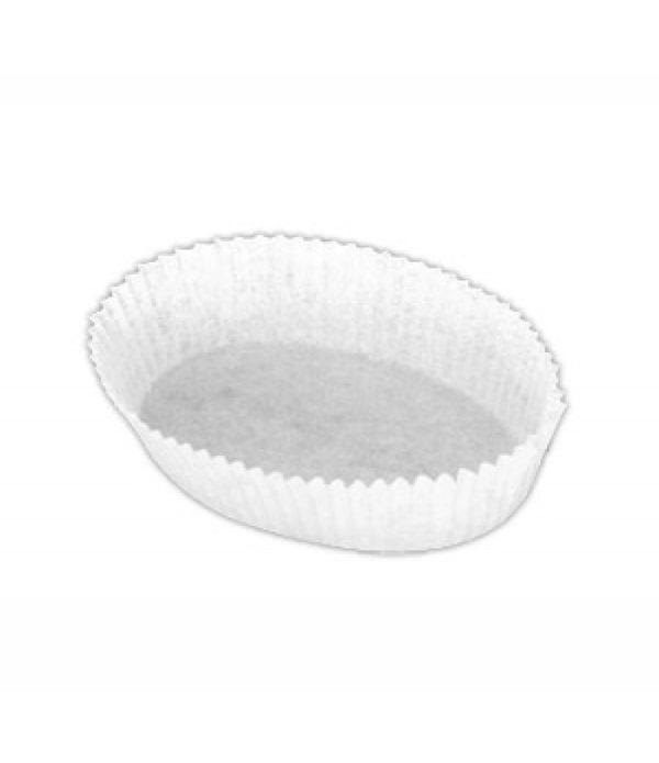 Papirnata posodica za muffine in mignone ovalna, bela 30x80mm h=25mm (2000 kos/pak)