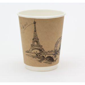 Papirnat kozarec Ruska mesta 250 ml dvoslojen, d=90 mm kraft