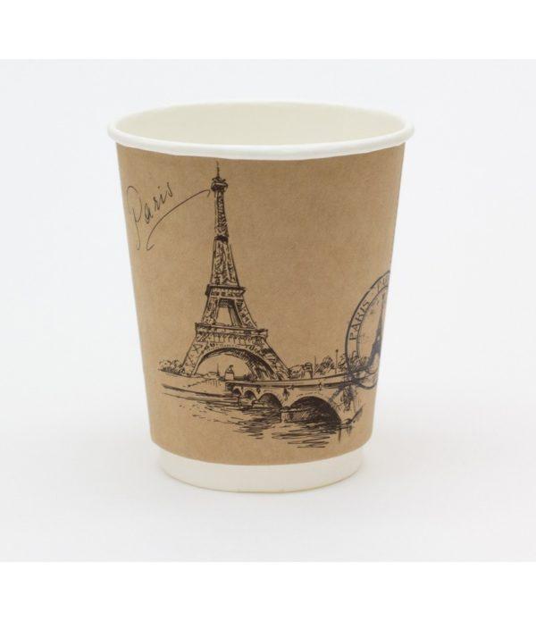 Papirnat kozarec 250 ml d=80 mm 2-slojni kraft Mesta Sveta (25 kos/pak)