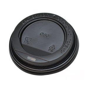 Pokrov s stransko luknjo PS d=80 mm črn (100 kos/pak)