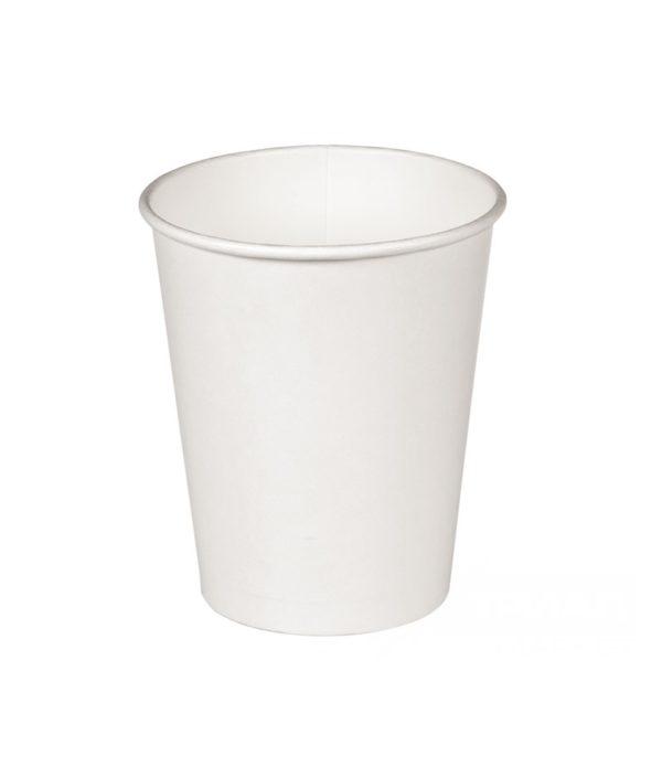 Papirnat kozarec 350 ml d=90 mm 1-slojni bel (37 kos/pak)