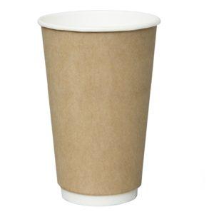 Papirnat kozarec 400 ml d=90 mm 2-slojni kraft (18 kos/pak)