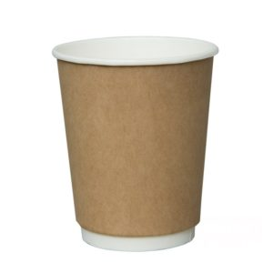 Papirnat kozarec 250 ml za tople napitke dvoslojen, d=90 mm kraft