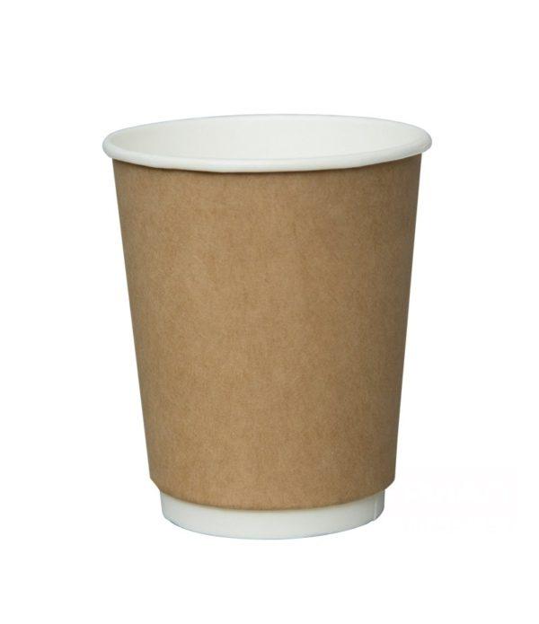 Papirnat kozarec 250 ml d=80 mm 2-slojni kraft (25 kos/pak)