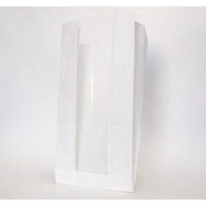 Papirnata vrečka z oknom 130(50)x100x300mm, teža - 40g
