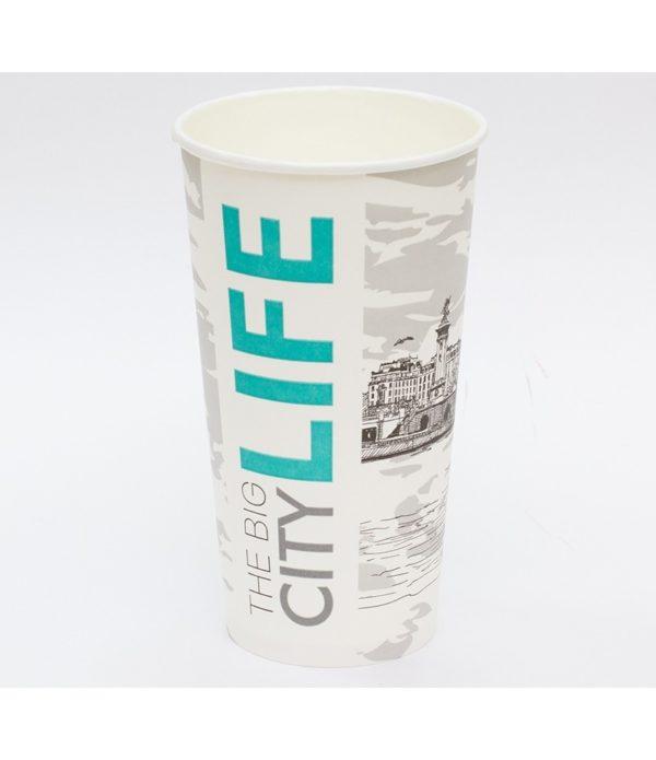 Papirnat kozarec500 ml d=90 mm 1-slojni Big City Life (50 kos/pak)