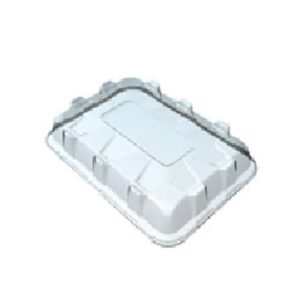Pokrov za pravokoten pladenj PET 35 x 24 x 6 cm (25 kos/pak)
