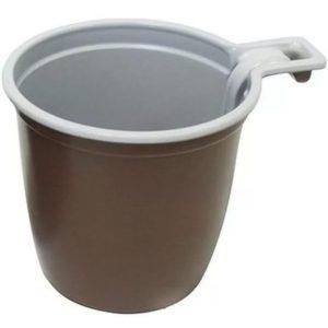 Skodelica za kavo 180 ml belo-rjava (50 kos/pak)