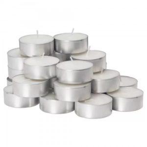 Čajne svečke bele, 100 kos
