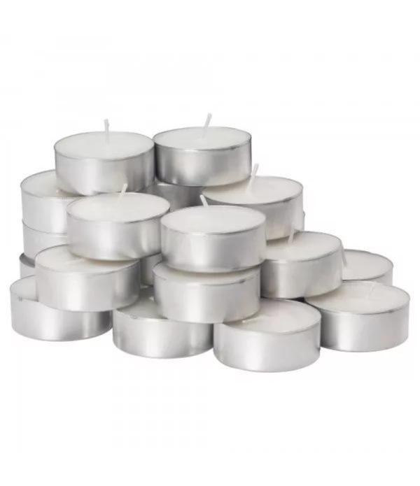 Čajne sveče, bele 100kos/pak
