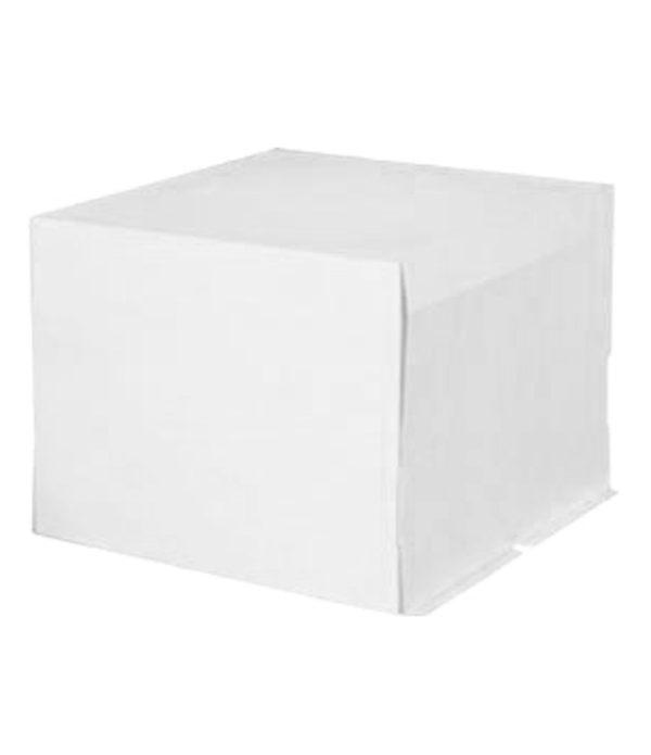 Škatla za torte (pokrov) 400x400x300 mm 5 kg bel karton (20 kos/pak)